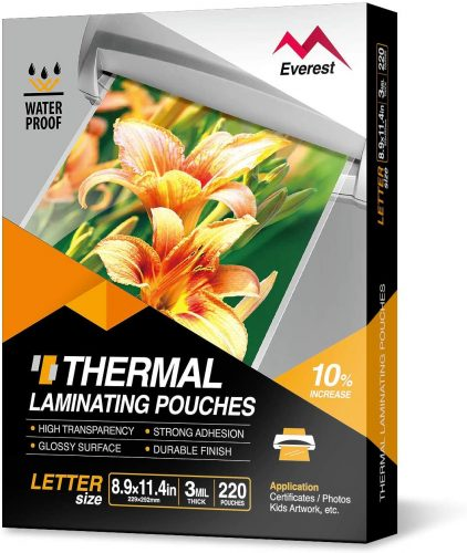 2. Everest Thermal Laminating Pouches - Laminate Paper