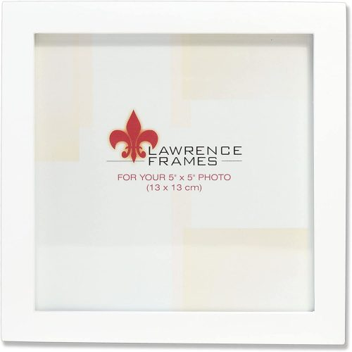 10. Lawrence Frames White Wood Picture - Square Picture Frame
