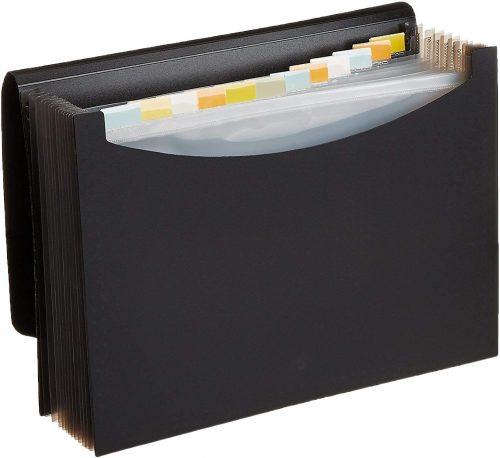 2. AmazonBasics Expanding Organizer File Folder - Plastic File Folders
