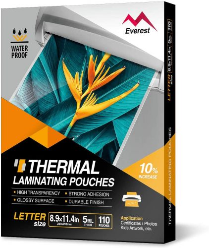 7. Everest Thermal Laminating Pouches - Laminate Sheet