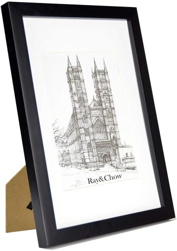 Ray & Chow A4 Black Matted Picture Frame - A4 Photo Frame