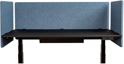 4. ReFocus Acoustic Rear Mount Desk Dividers- Office Partition