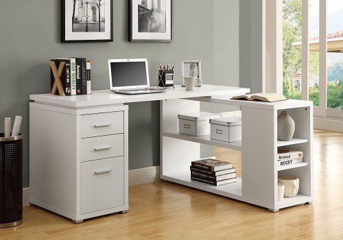 2. Hollow-core Corner Desk - Modular Office Furniture