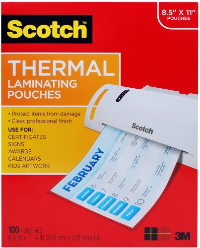 9. Scotch Thermal Laminating Pouches - Laminate Paper