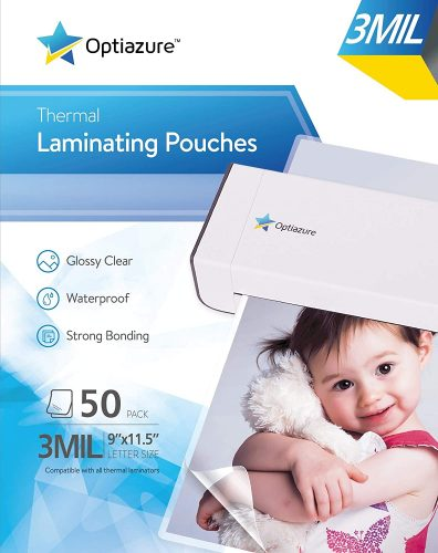 1. Optiazure Thermal Laminating Pouches - Laminate Sheet