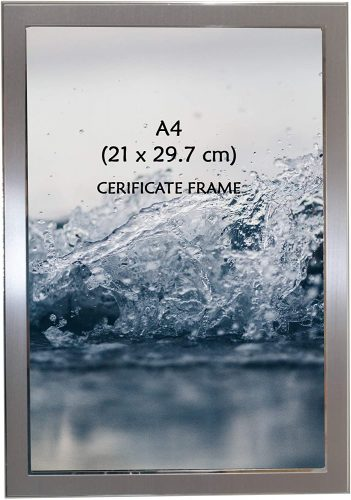 Photo Frame Beautiful Satin Silver Color A4 Certificate