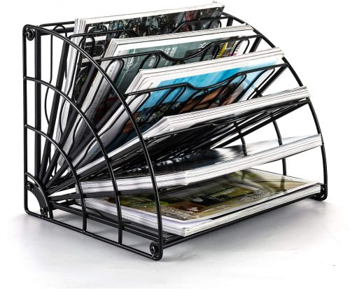 PAG Fan-Shaped Desktop File Organizer Shelf Metal