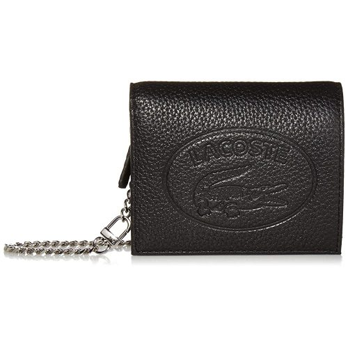 Women's Leather Croc Chain Wallet Necklace