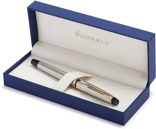 5. Waterman Expert Rollerball Pen, Stainless Steel