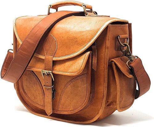 rofozzi Leather Camera Bag, Travel Vintage