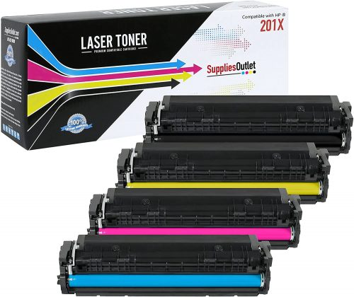 10. Supplies Outlet HP 201X 4 Color Toner Cartridge - Laser Toner Cartridge