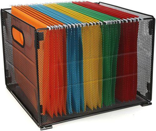 5. Samstar Hanging File Folder Box - Filing Cabinet Divider