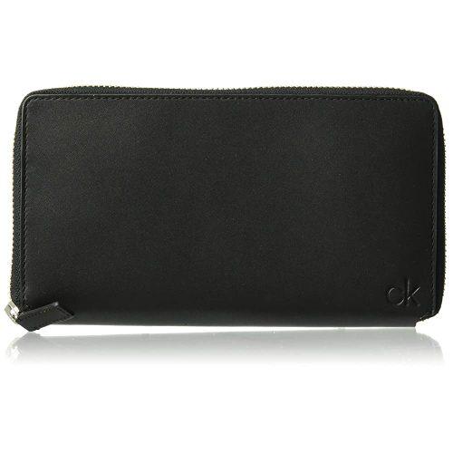 Men's Zip Continental Wallet, black, 1 SIZE