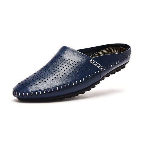 V.J Men's Classic Leather Office Slippers - Slipper For Office