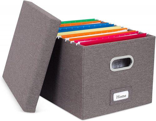 4. Internet's Best Collapsible File Storage Organizer - Filing Cabinet Divider