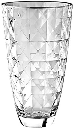 "Barski European Glass Designed Vase, 12"" H, Made in Europe"
