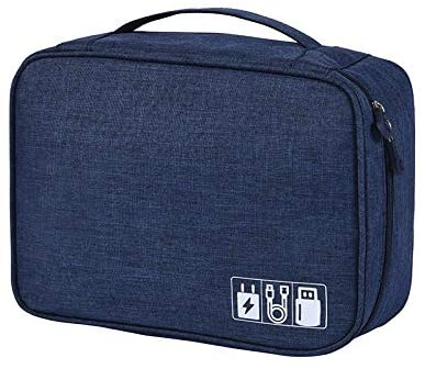 6. Electronic Organizer Travel Universal Cable Organizer Cable Cord Bag