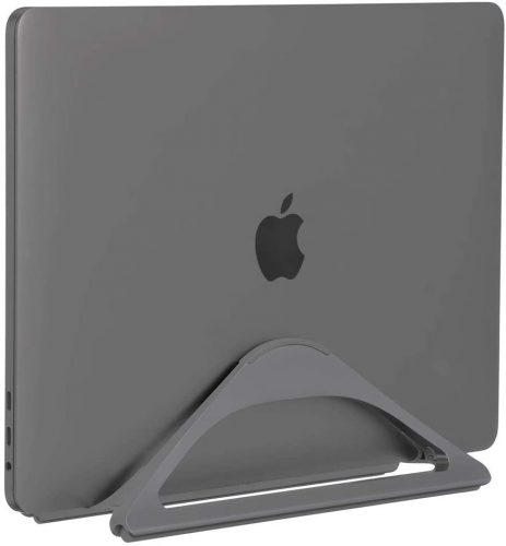 6. HumanCentric Vertical Laptop Stand for Desks (Space Gray)