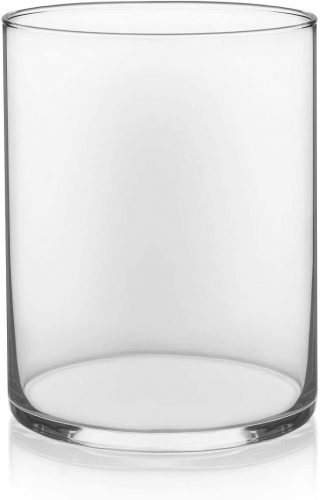 "Floral Supply Online - 8"" Tall x 5"" Wide Cylinder Glass Vase"
