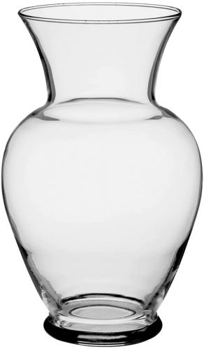 "Floral Supply Online 10 5/8"" Clear Spring Garden Vase"