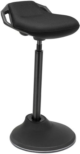 4. SONGMICS Standing Desk Chair 24.8-34.6 Inches, Adjustable Standing Stool