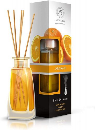Orange Diffuser w/Orange Oil 3.4oz - Fresh Room  | Bathroom Freshener