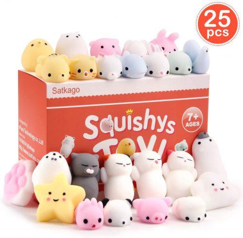 8. Satkago 25 Pcs Mini Mochi Squishies Toys, Mochi Squishy Toy Stress