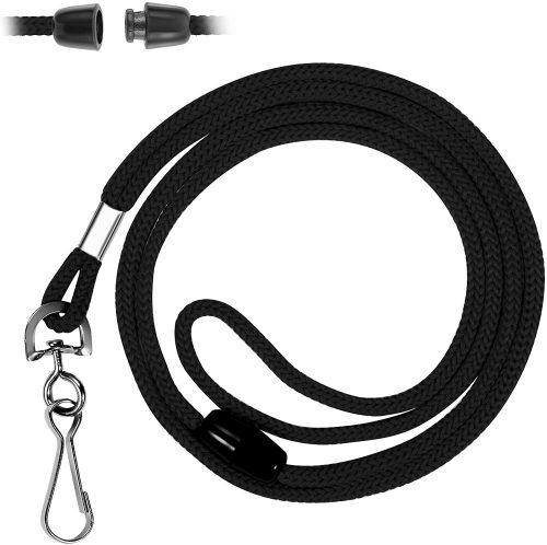 Mata1 Safety Lanyard (Black, 36 Inch, 100 Pack), ID Badge Lanyards in Bulk