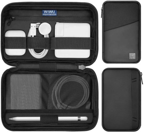2. WIWU Travel Cable Organizer Bag, Waterproof Electronics Accessories