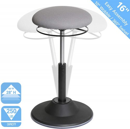 5. Seville Classics Airlift 360 Sit-Stand Adjustable Ergonomic