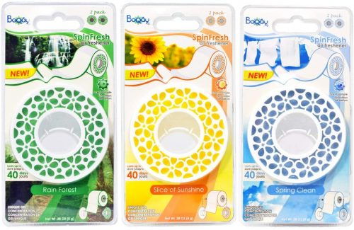 Spin Fresh TP Air Freshener (Variety, 3 Pack) | Bathroom Freshener