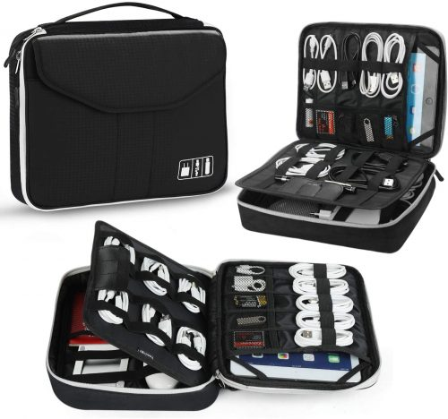 4. Electronic Organizer, Jelly Comb Travel Organizer Bag Electronic Accessory Cases