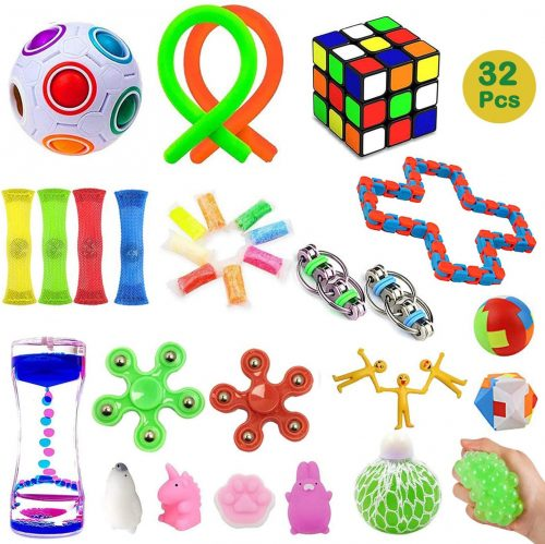 2. 32 Pack Sensory Fidget Toys Set,Stress Relief Hand Toys