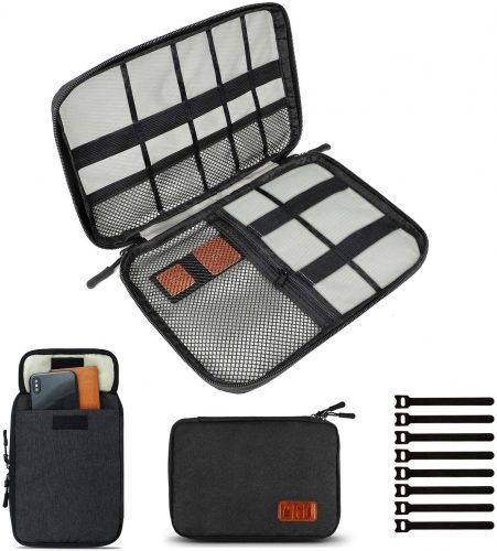 9. Travel Cable Organizer Bag, Electronics Accessories Carry Cases