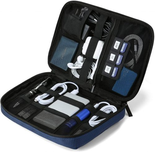 8. BAGSMART Travel Cable Organizer Cases Electronics Accessories Storage