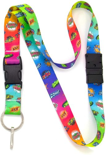 Buttonsmith Nebula Breakaway Lanyard - with Buckle and Flat Ring