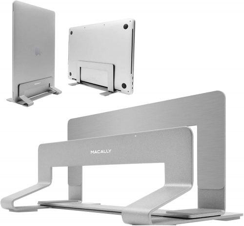 9. Macally Vertical Laptop Stand for Desk Space