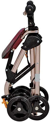 3. Drive Medical Four Wheel Walker Rollator, Upright Posture Rolling Walker