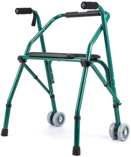 5. HWZQHJY Narrow Lightweight Upright Walker, Stand Up Rollator Walker