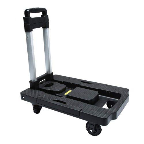 Kampeaburr Folding Hand Truck 5-Wheel Folding Trolley TPR Wheel  Luggage Trolleys