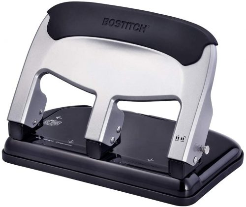 Bostitch EZ Squeeze 40 Sheet 3-Hole Punch (HP40) | 4 Hole Punches