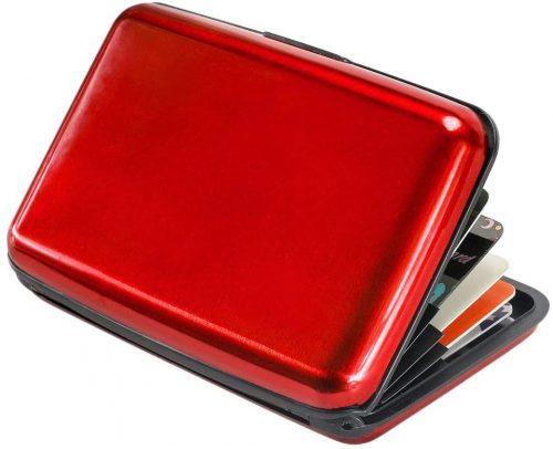 Elipark Mini Credit Card Holder RFID Blocking Aluminum Wallet