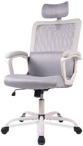 2. SMUGDESK, Mesh, Ergonomic Office Desk Computer Task Chair, Gray