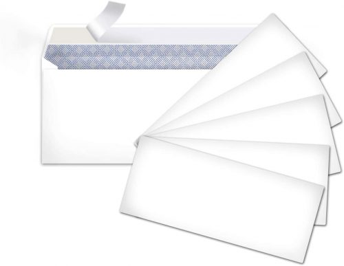 4. AmazonBasics #9 Envelopes with Peel & Seal, Security Tinted, 100-Pack