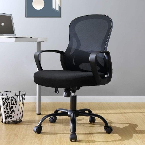 1. ERLMAN Ergonomic Mid Back Mesh Office Chair Adjustable