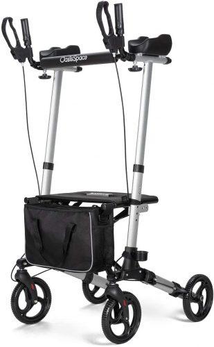 10. OasisSpace Lightweight Upright Rollator Walker- Stand up Rollator Walker