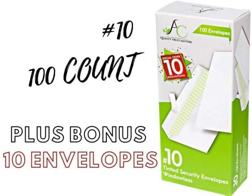 1. 100 Count #10 Security Tinted Self-Seal Windowless Envelopes