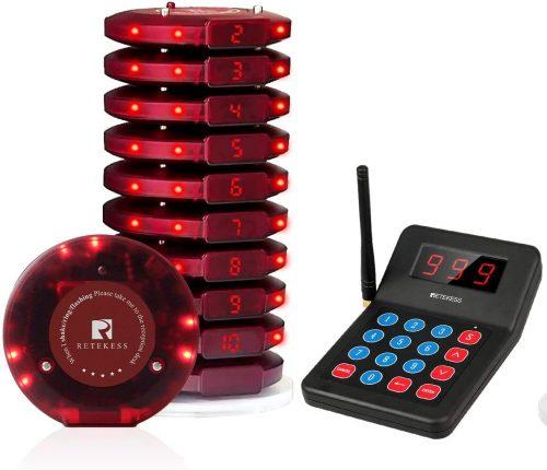 5. Retekess T119 Restaurant Pager System Long Range Check Calling