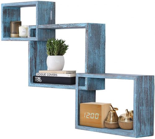 Rustic Wall Mounted bed bookcases