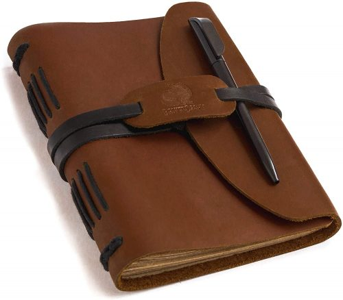 7. Beavercraft, LJ1 Leather Journal Notebook Writing Journal